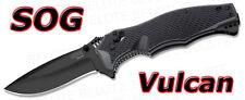S.O.G. SOG Vulcan Black TiNi Folder Plain Edge VL-11