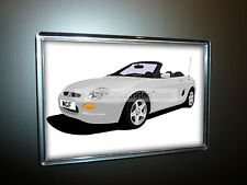 MG MGF FRIDGE MAGNET (LARGE). CHOOSE YOUR CAR COLOUR