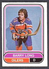 1975 76 OPC O PEE CHEE  WHA 90 BARRY LONG NM EDMONTON OILERS HOCKEY CARD