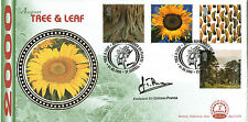 2000 TREE AND LEAF BENHAM FIRST DAY COVER SIGNED PROFESSOR GHILLEAN PRANCE SHS