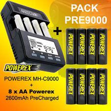 PACK PRE9000 - Cargador Powerex MH-C9000 + 8 Baterías AA 2600 Precharged