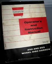 White Farm Equipment 252 adn 253 Wheel Disc Harrow Operator's Manual SC FAIR
