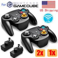 Wireless Gamecube Controller Wavebird Style w/ Adapter for Nintendo NGC GC Black