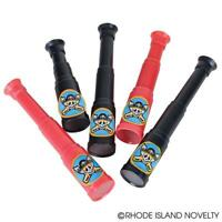 "12 Mini Pirate Telescope Party Supplies 5"" Black and Red Brand New"