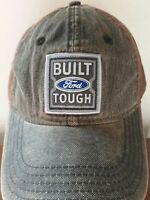 Built Ford Tough Automobile Truck Front Patch Hat Cap Strapback Brown NWOT