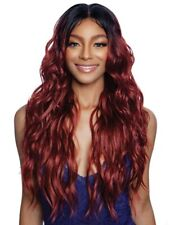 MANE CONCEPT BROWN SUGAR HUMAN HAIR MIX INVISIBLE WHOLE LACE WIG - BSI405 TUPELO