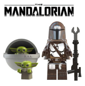 STAR WARS MANDALORIAN & BABY YODA MINIFIGURE  F it's  LEGO UK SELLER