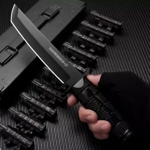Survival Combat Tactical Serrated Hunting Knife Military Knife Bowie Fixed Blade