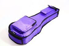 More details for 21 & 26 inch premium ukulele bag all sizes pink blue purple 10mm padded uk deal