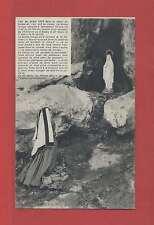 Carte postale ancienne (Hautes-Pyrénées) LOURDES  L'Apparition de la Vierge
