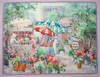 "Dimensions ""Open Air Flower Market"" Cross Stitch Completed Finished"