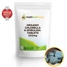 Organic Chlorella & Spirulina Tablets 500mg (Certified Organic) *OFFER* Combined