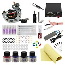 Cheap Complete Tattoo Kit 1 Tattoo Machine 1 Mini Power Supply 5 Tattoo Needles