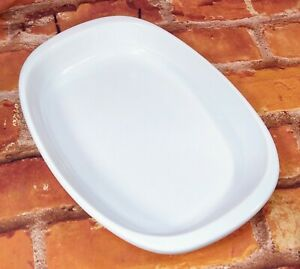 Chantal 10 x 8 White Ceramic Casserole Pan Rounded Rectangle
