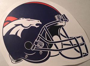 """Denver Broncos FATHEAD Official Team Helmet Logo 20"""" x 15"""" NFL Vinyl Graphics"""