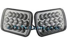 "Pair 7""X6"" LED HID Cree Light Bulbs Crystal Clear Sealed Beam Headlamp Headlight"