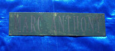 Marc Anthony Dressing Room Sign / Plaque Atlantic City Rare