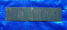 Marc Anthony Dressing Room Sign / Plaque Atlantic City Rare