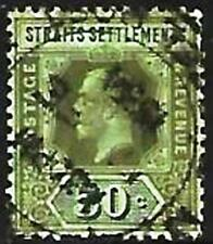 1912 - 1925  USED STAMPS - KG V : STRAITS SETTLEMENTS