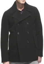 NWT $695.00 Theory Jacket Slim Fit Double Breasted Wool Blend Pea Coat