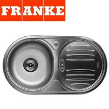 FRANKE BALTIC ROUND SINGLE 1.0 BOWL DRAINER & WASTE STAINLESS STEEL KITCHEN SINK