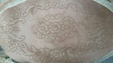 Brand New Hand Made Chinese 100% Wool Rug oval BROWN  carved patern