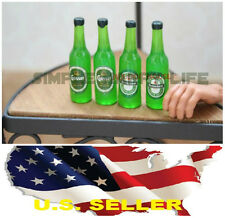 1/6 4 x bottles beer alcohol toy for Hot toys Kumik Phicen stage property USA