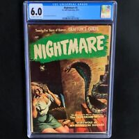 NIGHTMARE #3 (St. John 1952) 💥 CGC 6.0 OW-W 💥 CLASSIC PRE-CODE PAINTED COVER!