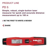HILTI PD5 Laser Distance Meter 70m IP55 +/-1.5mm Accuracy Made In Germany FedEx