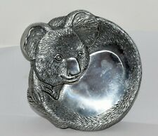 Arthur Court Koala Cheese Plate Dated 1988 7 Inches by 7-3/4 Inches