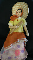 Vintage Peruvian Souvenir Doll w/ Vibrant Colored Clothes w/ Wire Hands & Feet