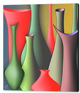 "Vases Still Life, by Ben & Raisa Gertsberg, 36""x36"", Print on Canvas"