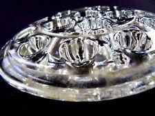 """Vintage Clear Glass Flower Frog 5"""" (C13)"""