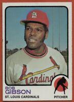 1973 Topps #190 Bob Gibson EX-EX+ St. Louis Cardinals FREE SHIPPING