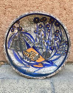 Peacock, Mid-Century, Ceramic Wall Plate by BENKŐ ILONA Hungarian Vintage Modern