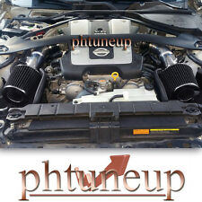 BLACK fit 2008-2012 2013 INFINITI G37 3.7 3.7L ENGINE DUAL TWIN AIR INTAKE KIT