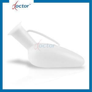 Pappagallo in plastica bianco UOMO urinale maschile per ammalati e degenti urina