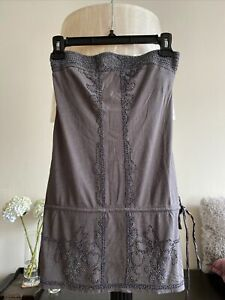 Abercrombie & Fitch beads strapless tube top, Gray, Size XS.