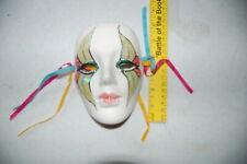 "Face Mask 6""x4 1/2"" Ceramic Art Mardi Gras Miniature Masquerade"