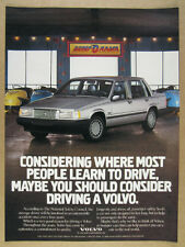 1990 Volvo 740 Sedan dodgem bumper cars photo vintage print Ad