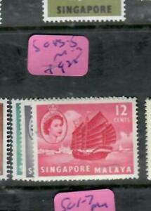 SINGAPORE  (PP1109B)  QEII   BOAT  8C-12C  SG 43-5       MOG