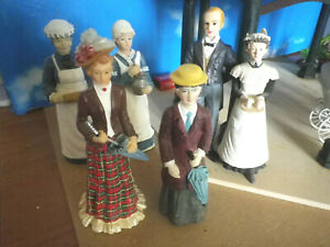 Victorian Resin Dolls house figures and pram
