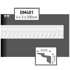 40 Meter Styroporleisten Zierprofile Stuckprofile Stuckleiste Dekor 40x30mm D401