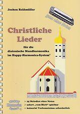 Harmonica-juego cuaderno sin notas: canciones cristianas-para Bluesharp