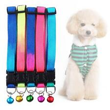 Multi Color Pet Collar with Bell Adjustable for Small Dog Puppies Cute Collar MT