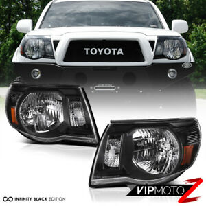 "For 05-11 Toyota Tacoma ""TRD STYLE"" Black Front Headlights Head Lamp Pre Runner"