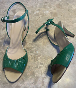 Authentic Bally Shoes/sandals, BNWOB, Size 9US, EU 39.5, All Leather, Emerald Gr