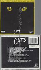 CD--MUSICAL, WIEN UND ANDREW LLOYD WEBBER -- CATS----DEUTSCHE ORIGINALAUFNAHME-