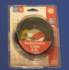 GE 6-Feet Component Video/Audio RCA Cable, Black, Part #73216-2