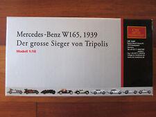 ✅ CMC 1:18  M-018 Mercedes-Benz W165, 1939 Silver Arrow  ✅